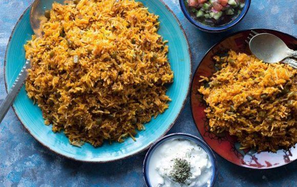Loobia Polo (Persian Food Plate)