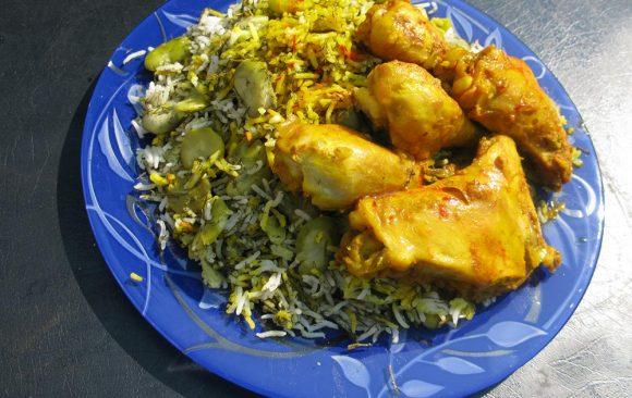 Shevid Baghala Polo (Persian food)